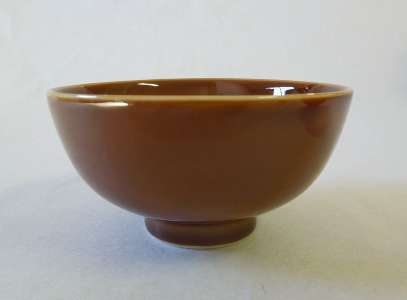 画像1: 飴釉丸お茶碗